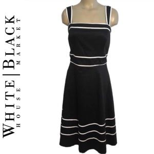 Ann Taylor Black & White Sleeveless Dress PL